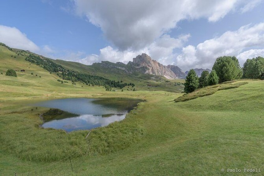 Show item 4 of 9. Photoshooting in the Dolomites - lakes and mountais