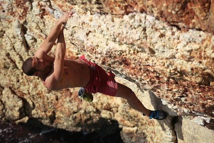 Show item 1 of 10. Fun Climbing: Half-day Rock Climbing Trip