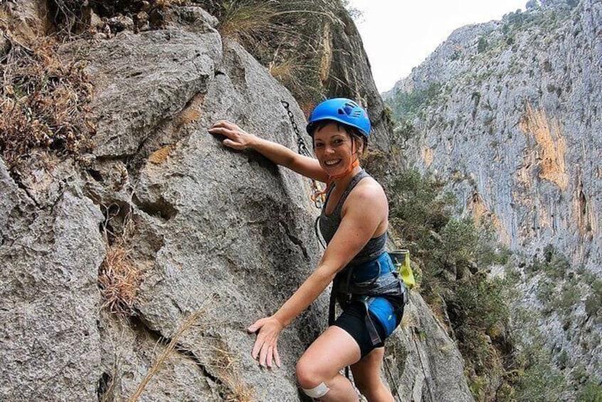 Show item 3 of 10. Fun Climbing: Half-day Rock Climbing Trip