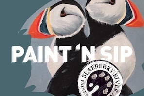 Puffin Paint and Sip Kilted Kangaroo, Stirling.