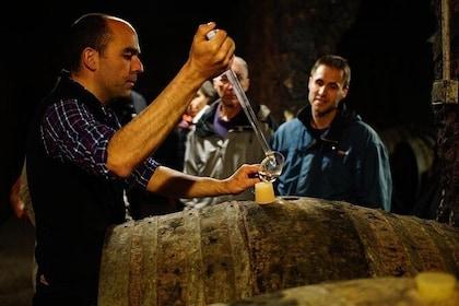 Tasting at the barrel