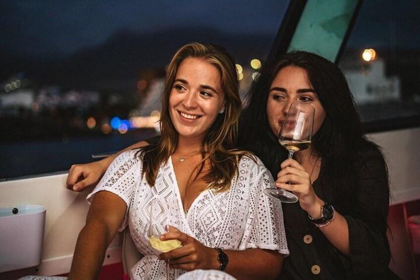 Romantic night ocean cruise