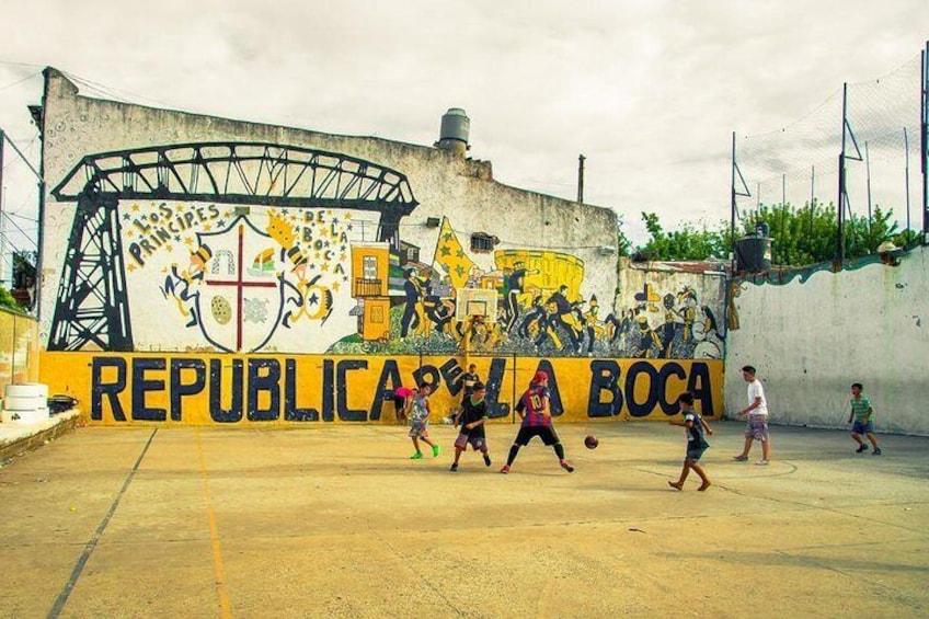 Football in La Boca