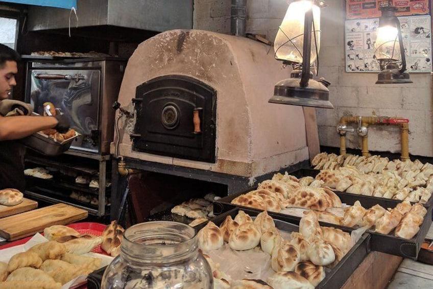 Empanada Stall at the Market