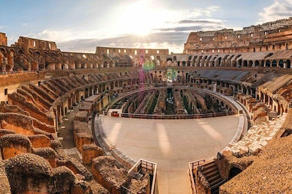 Colosseum Through The Back Door With Gladiator's Gate & Arena Floor
