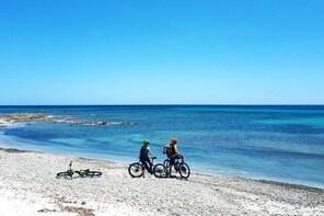 Easy ride to Biderosa, Berchida, & Capo Comino, with Electric Mountain Bike...