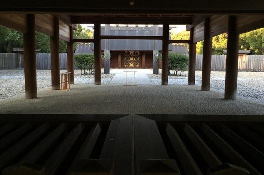 Inside of the Atsuta Shrine