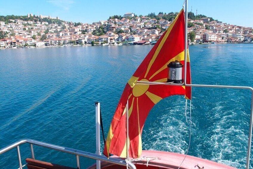 Boat ride on lake Ohrid