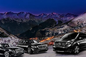 Your VIP transfer from Chambery Airport to Alpe d'Huez (Mercedes S ou V-cla...