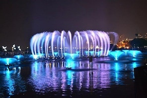 Nanchang Autumn Water Square Music Fountain Night Show with Local Food Dinn...