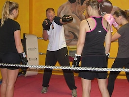 Blowing off steam for 1hour during intensive boxing training