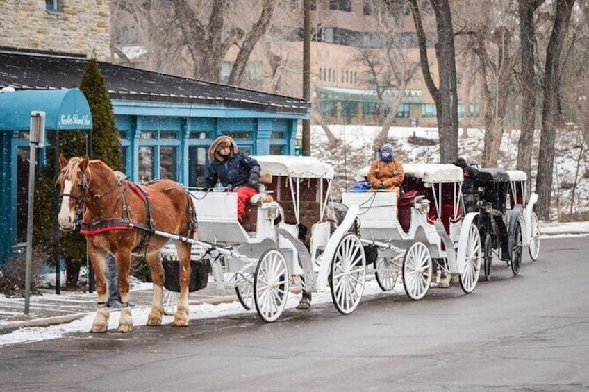 Show item 3 of 4. Carriages ready at The Nicollet Island
