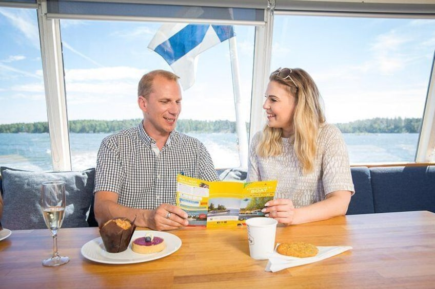 See Helsinki on a canal cruise, indoor and outdoor seats