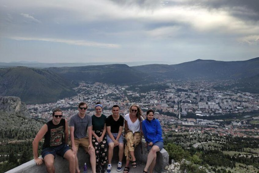 Show item 3 of 17. Last stop is located on a hill above Mostar. Here you can see a fabulous daylight view of the town.