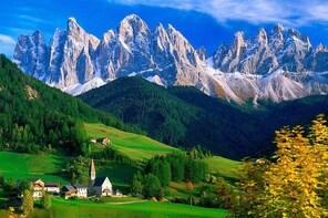 From Bolzano: The Episcopal City of Bressanone, Novacella Abbey and Funes V...