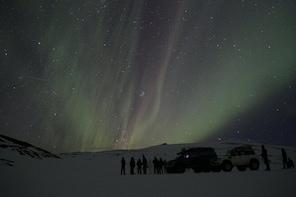 Northern Lights on Eyjafjallajökull by Super Jeep