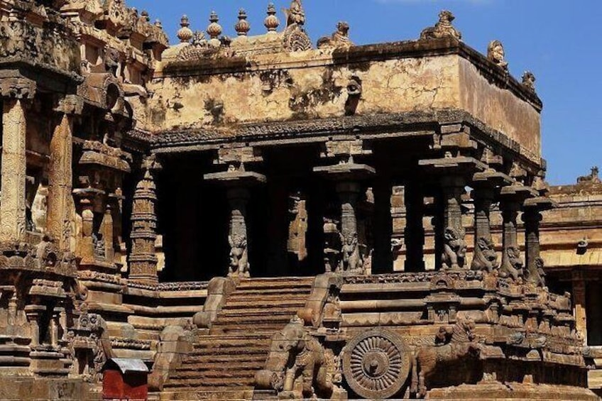 Show item 1 of 2. Private Guided Tour of Airavatesvara Temple from Thanjavur with Lunch