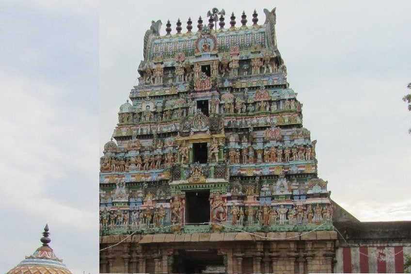 Show item 5 of 8. Temple Of Jupiter In Alangudi From Trichy