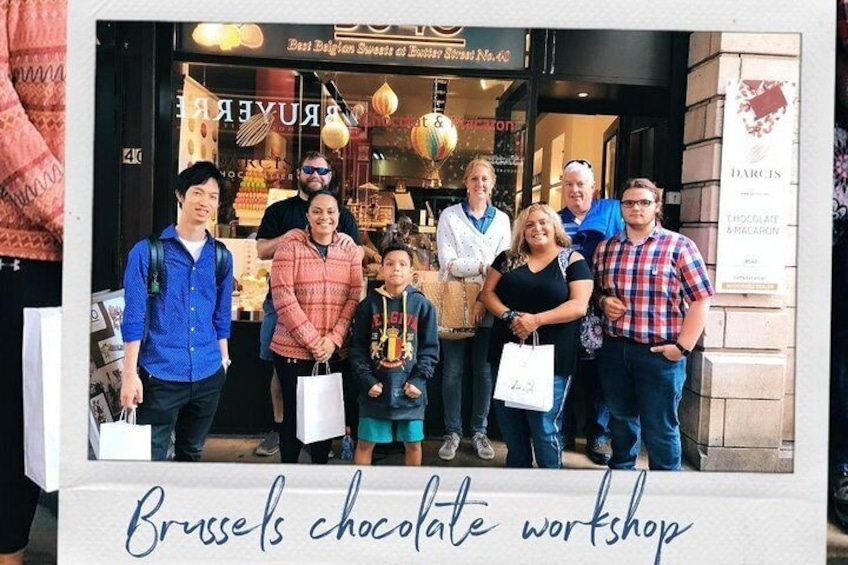 Tasting of premium chocolates throughout the center of Brussels