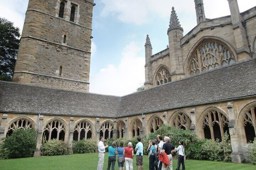 Show item 3 of 11. Cloisters, New College – where Malfoy was transformed into a ferret in 'Harry Potter and the Goblet of Fire'