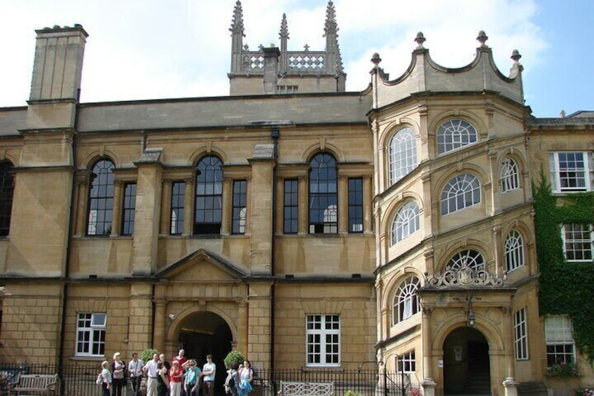 Hertford College with Staircase to Dining Hall