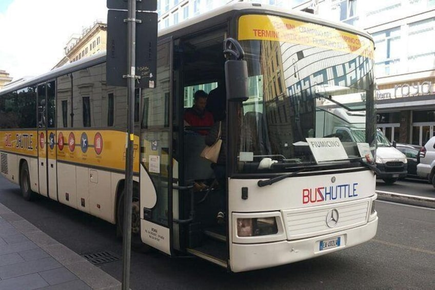 Shuttle Bus: Fiumicino Airport To-From Rome City Center