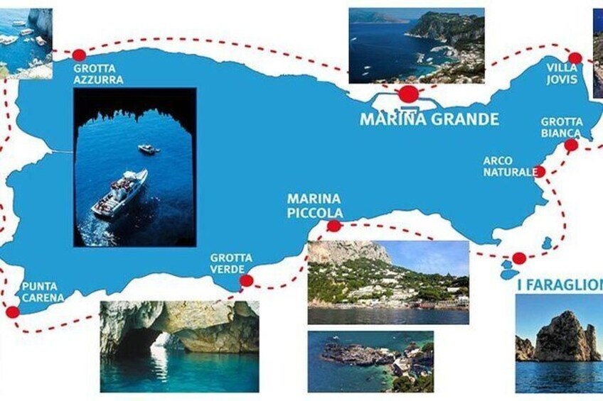 Capri: Boat Tour, Priority Tickets & Blue Grotto (Optional)