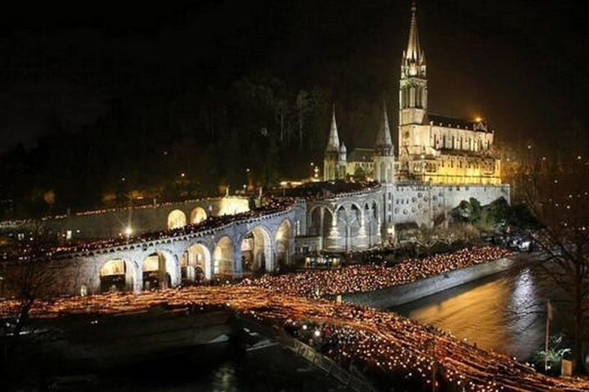 torch-lit Marian processions