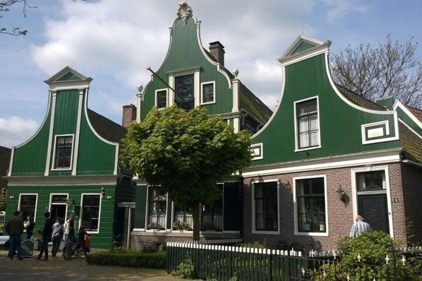 Green houses at Zaanse Schans