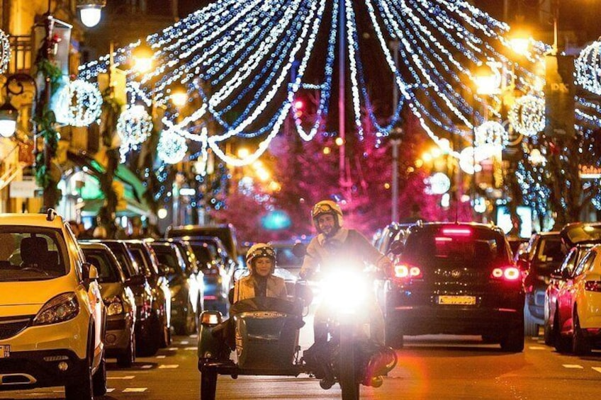 Private tour of Deauville by night in a sidecar
