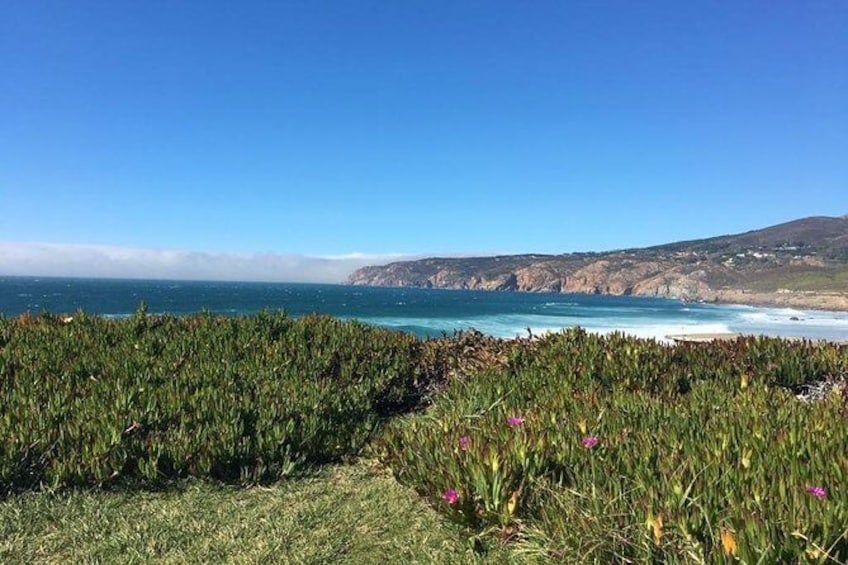 Show item 2 of 9. The Guincho beach is beautiful sandy beach area 9 km away from Cascais