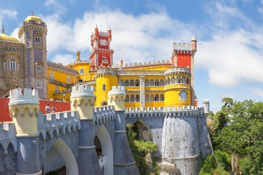 Show item 4 of 10. The Pena Palace is one of the major expressions of 19th-century romanticism in the world