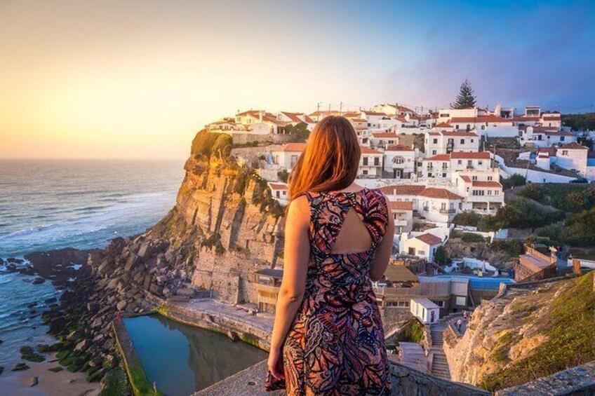 Show item 5 of 9. Azenhas do Mar has a stunning view overlooking the Atlantic Ocean
