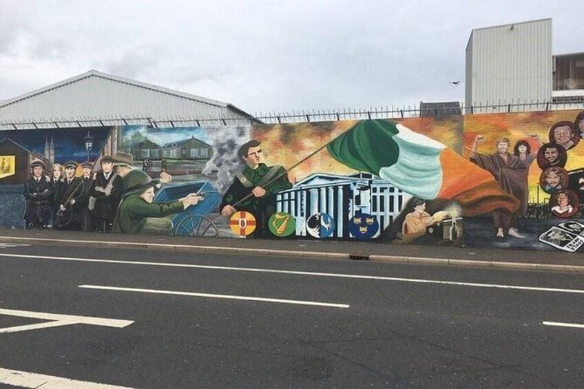 Show item 4 of 12. Republican wall murals, Falls Road