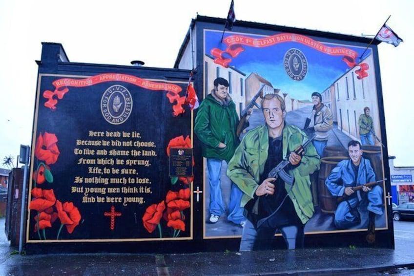 Show item 2 of 12. Loyalist Murals, Shankill Road