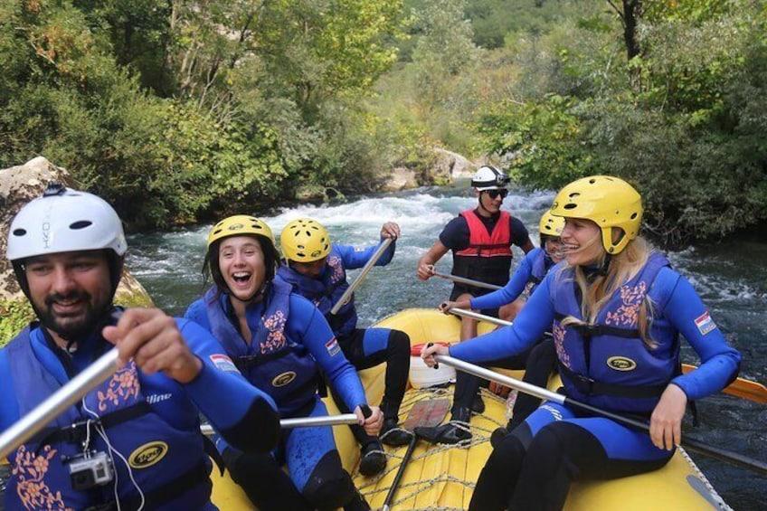 Rafting on Cetina River Departure from Split or Zadvarje village
