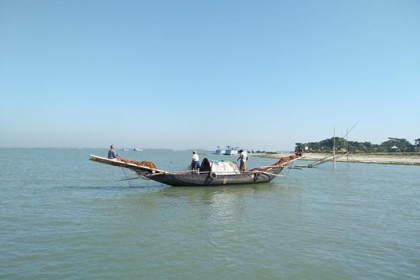 Fishing in Meghna River