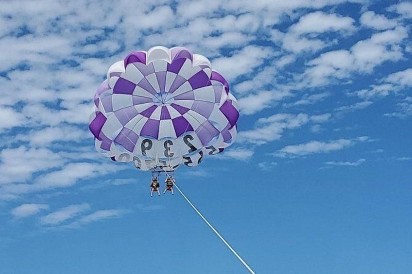 Show item 1 of 10. 300 Foot Parasail Flight