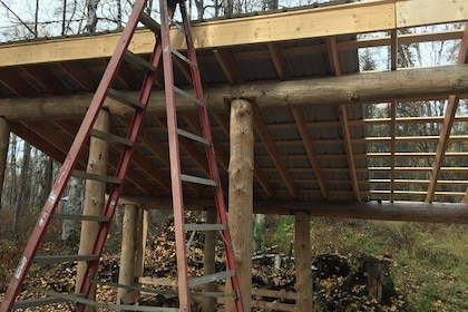 Wood shed build