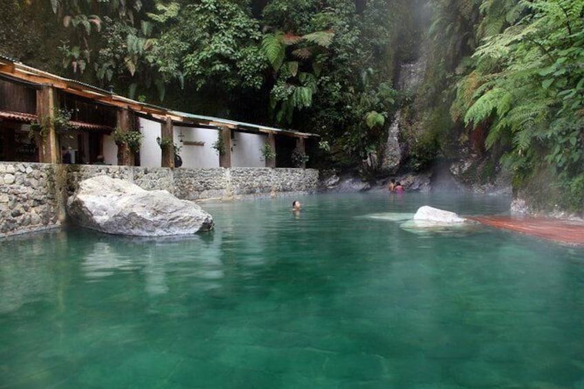 Show item 1 of 7. Fuentes Georginas Hot Springs from Quetzaltenango