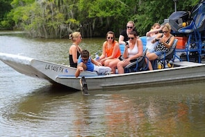 Small-Group Swamp Tour by Airboat with City centre New Orleans Pickup