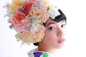 PREMIUM Course : Kimono Hire, Make-up & HANANINGEN Flower Hairdo Photoshoot