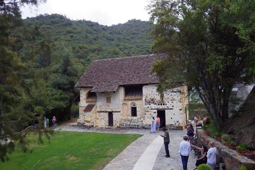 Show item 3 of 6. Old Kakopetria and Agios Nicolaos tis Stegis UNESCO church