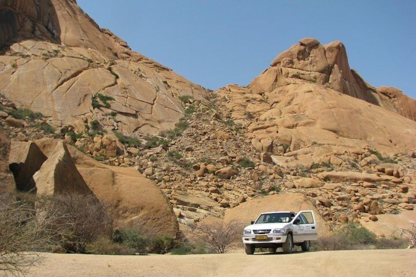 Show item 2 of 10. At the base of the Spitzkoppe Mountain