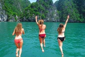 1 Day Boat Tour: HaLong Bay, Lan Ha Bay, Natural Beach and Full Moon Party