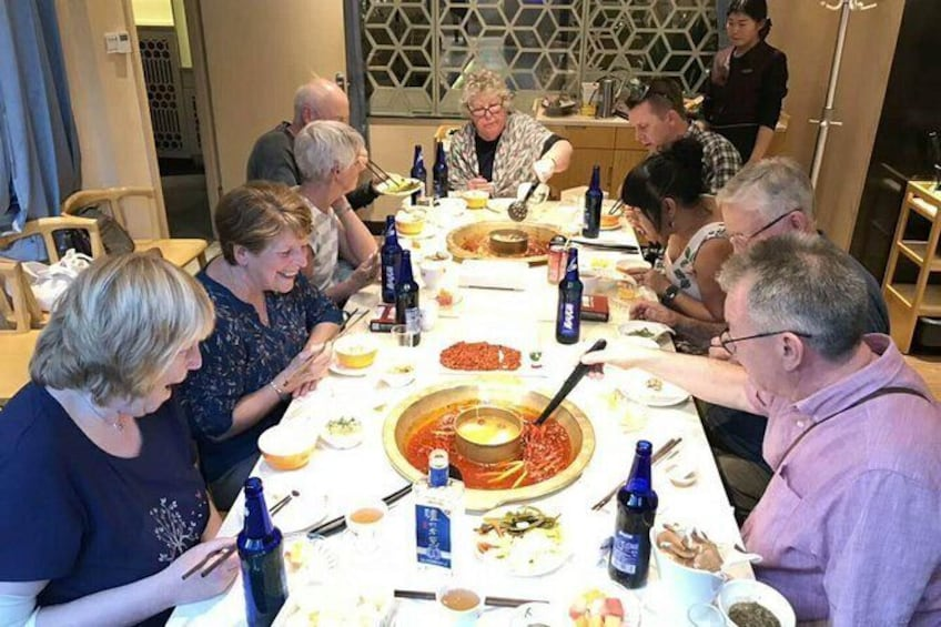 Show item 1 of 10. Hot hot Chengdu foodie tour very popular food with guide