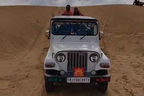 Sand Dunes Bashing Jeep Safari in Sam Desert Jaisalmer by Get Cab India
