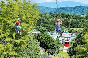 Small-Group 7-Line Zipline Activity at Sevierville Nature Park