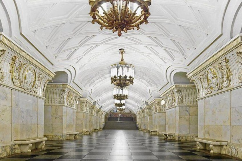 Show item 3 of 9. 10 Most Beautiful Moscow Metro Stations