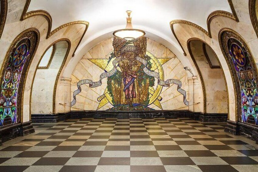 Show item 9 of 9. 10 Most Beautiful Moscow Metro Stations